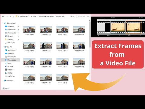 How to extract frames from video