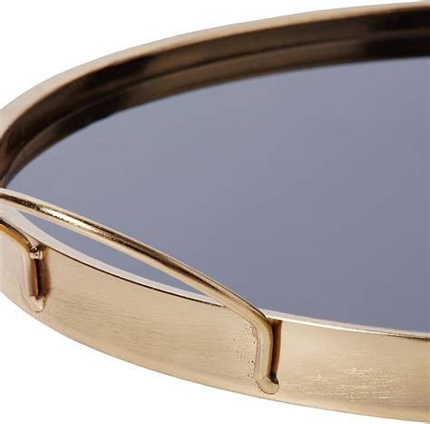 Rivet Contemporary Decorative Round Metal Serving Tray