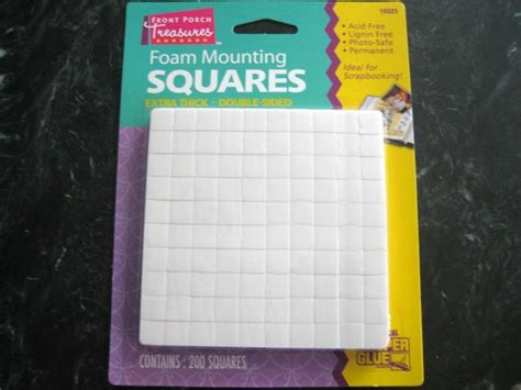 200 Foam Double-Sided Adhesive SQUARES Scrapbooking 3d