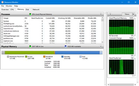 How to use Windows 10's Resource Monitor to track memory