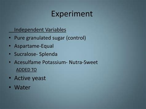 PPT - The Effect of Sugar Substitutes Compared to Sugar on