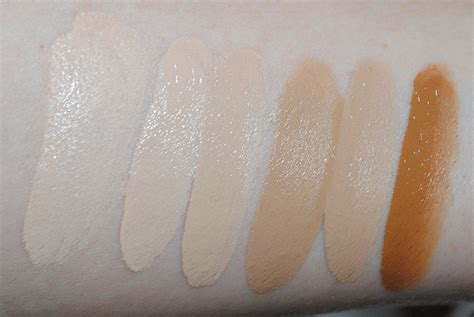 YSL Fusion Foundation Swatches - All Shades - Really Ree