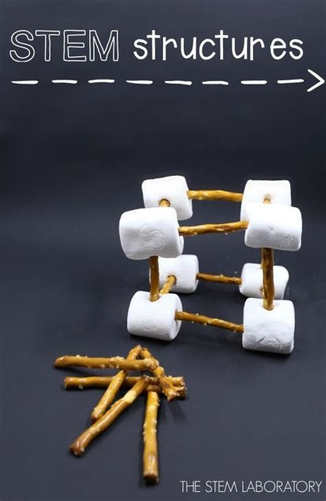 Pretzel and Marshmallow Structures | Stem projects for