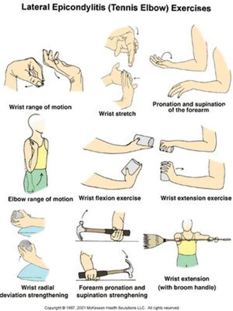 Tendonitis (tennis) elbow exercises and stretches | Hand