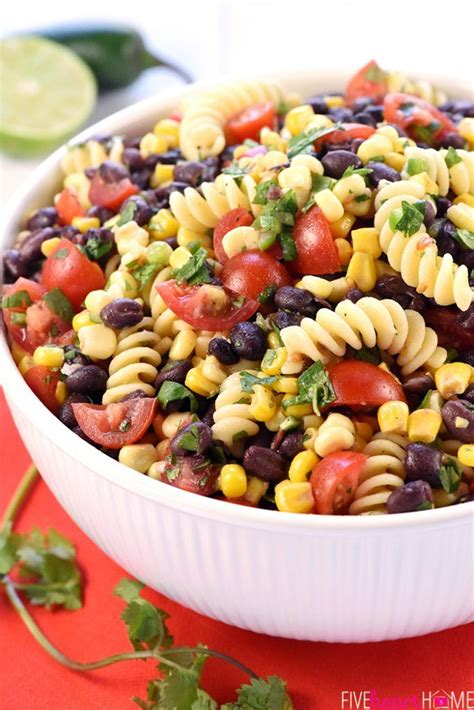 Fiesta Pasta Salad ~ loaded with corn, black beans