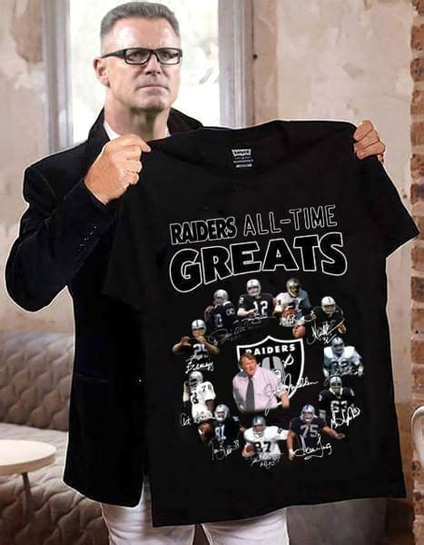 Oakland Raiders All Time Greats Signed - Gift for Fans T-Shirt