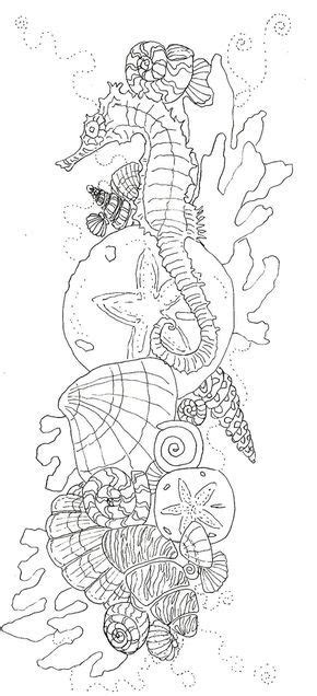 Pin by Lara Jager on tatoeages | Ocean coloring pages