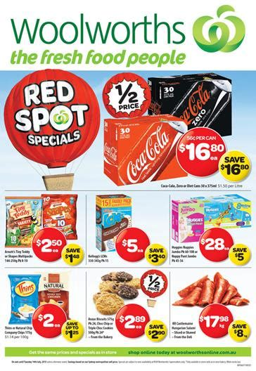 Woolworths Catalogue Specials Weekend 10 July 2015