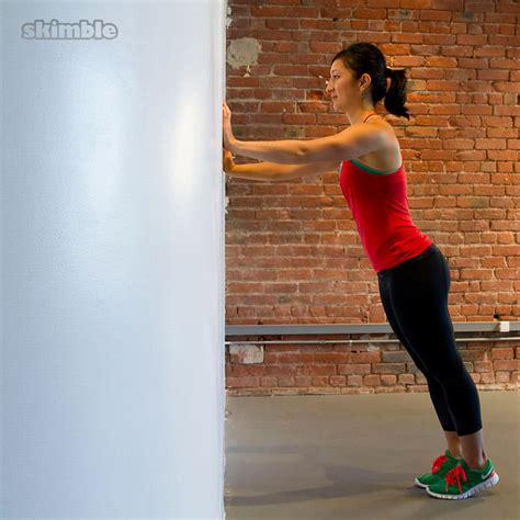 Wall Push-Ups - Exercise How-to - Workout Trainer by Skimble