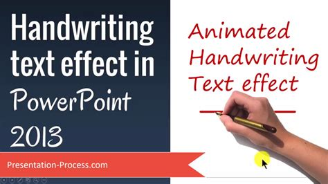 How To Create Handwriting Text Effect in PowerPoint 2013