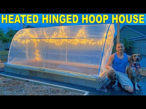 Easy DIY Hinged HOOPHOUSE for Raised Bed | Home Design