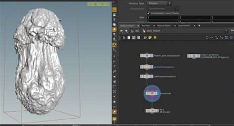 Pyro: creating a mesh (isosurface) from smoke and density