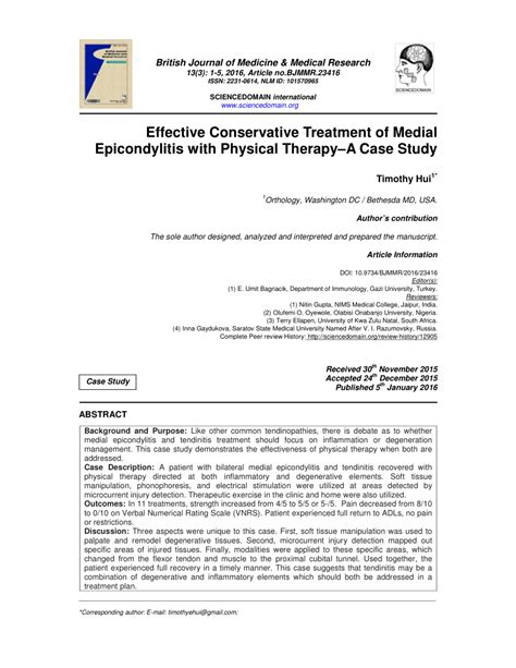 (PDF) Effective Conservative Treatment of Medial